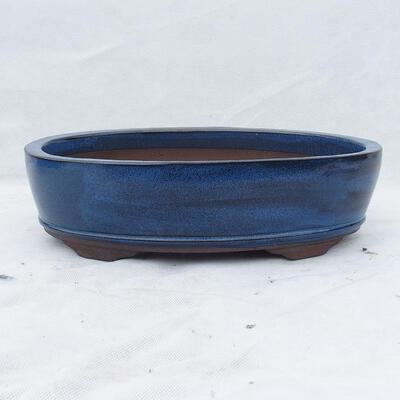 Bonsai bowl 35 x 24 x 9 cm, color blue - 1