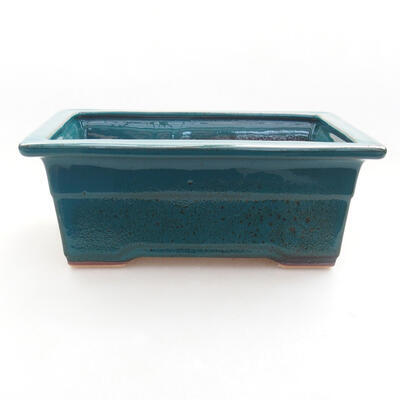 Ceramic bonsai bowl 18 x 13 x 7 cm, color green - 1
