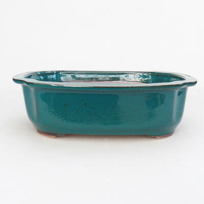 Ceramic bonsai bowl 23.5 x 20 x 7 cm, color green - 1