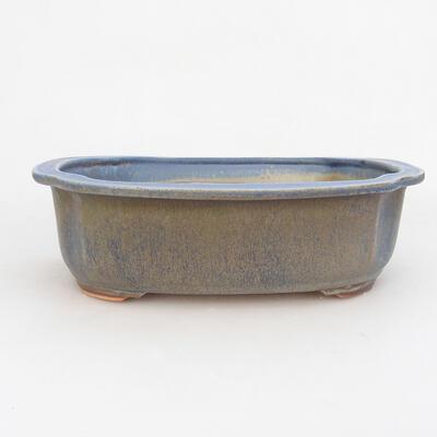 Ceramic bonsai bowl 23.5 x 20 x 7 cm, color blue - 1
