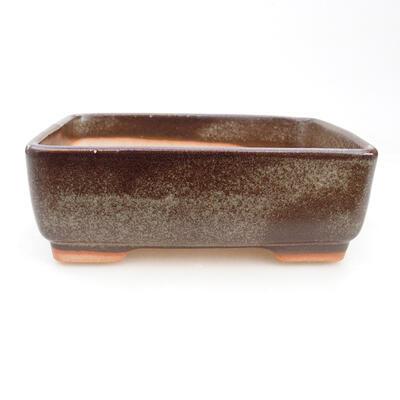 Ceramic bonsai bowl 14.5 x 11 x 5 cm, gray color - 1