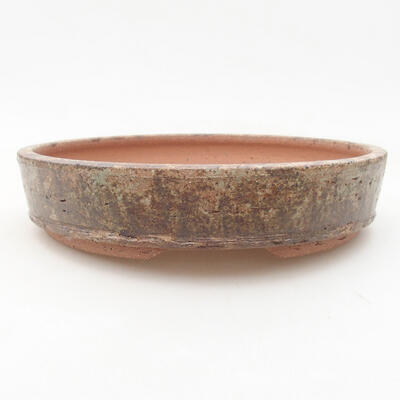 Ceramic bonsai bowl 20 x 20 x 4 cm, color brown - 1