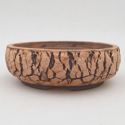 Ceramic bonsai bowl 19 x 19 x 6.5 cm, color cracked - 1