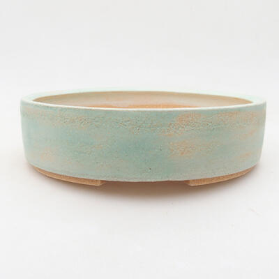 Ceramic bonsai bowl 20 x 20 x 5.5 cm, color green - 1