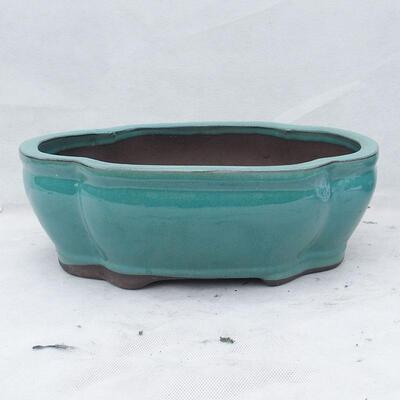 Bonsai bowl 35 x 27 x 11 cm, color green - 1