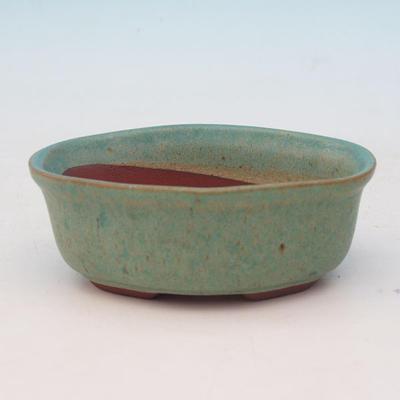 Bonsai ceramic bowl H 05, green - 1