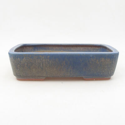 Ceramic bonsai bowl 25 x 19.5 x 6.5 cm, color blue - 1