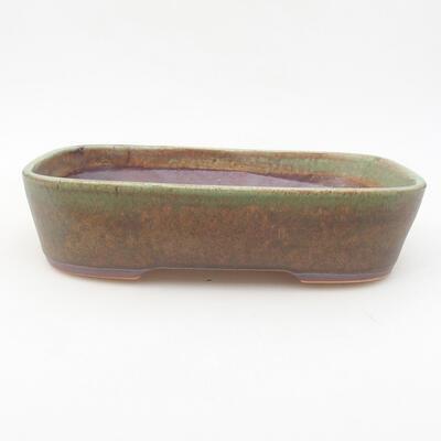 Ceramic bonsai bowl 23 x 17.5 x 5 cm, color green - 1