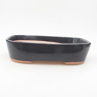 Ceramic bonsai bowl 23 x 17.5 x 5 cm, gray color - 1