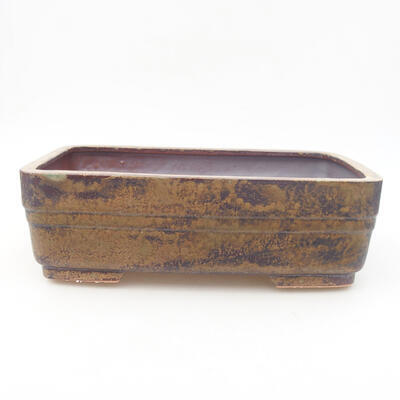 Ceramic bonsai bowl 26 x 20 x 8 cm, color brown - 1