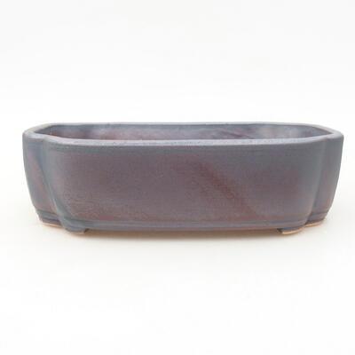 Ceramic bonsai bowl 17.5 x 13.5 x 5 cm, metal color - 1