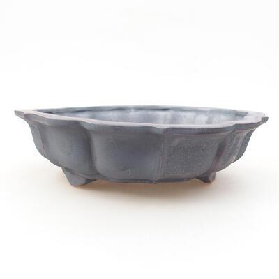 Ceramic bonsai bowl 17 x 17 x 4.5 cm, metal color - 1