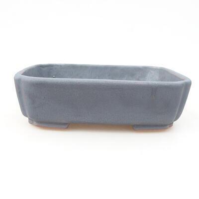 Ceramic bonsai bowl 15 x 11.5 x 4 cm, metal color - 1
