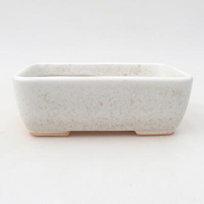 Ceramic bonsai bowl 15.5 x 10.5 x 5 cm, beige color - 1