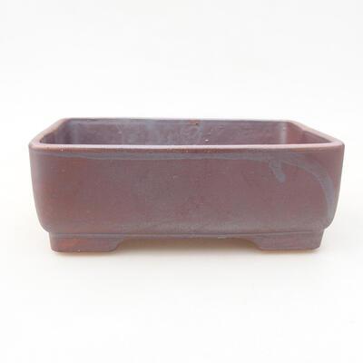 Ceramic bonsai bowl 14.5 x 11.5 x 4.5 cm, gray color - 1