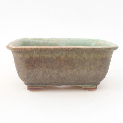 Ceramic bonsai bowl 13 x 10 x 5 cm, color green - 1
