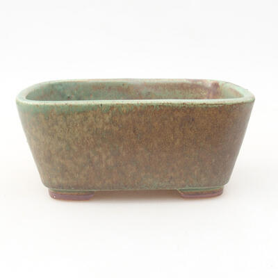 Ceramic bonsai bowl 13 x 10 x 5.5 cm, color green - 1