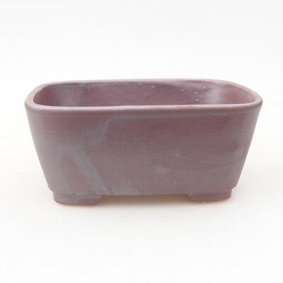 Ceramic bonsai bowl 13 x 10 x 5.5 cm, gray color - 1