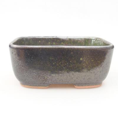 Ceramic bonsai bowl 13 x 10 x 5.5 cm, color green - 1