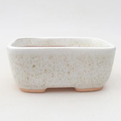 Ceramic bonsai bowl 13 x 10 x 5.5 cm, white color - 1