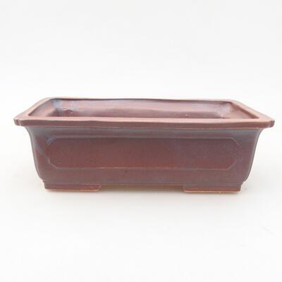 Ceramic bonsai bowl 16.5 x 11 x 5 cm, metal color - 1
