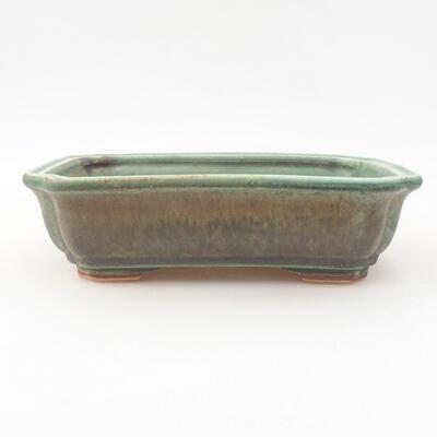 Ceramic bonsai bowl 17 x 13 x 4.5 cm, color green - 1