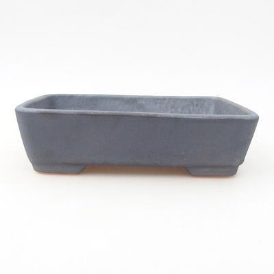 Ceramic bonsai bowl 17 x 13 x 4.5 cm, metal color - 1