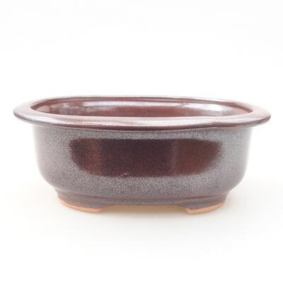 Ceramic bonsai bowl 14 x 11 x 5 cm, color brown - 1
