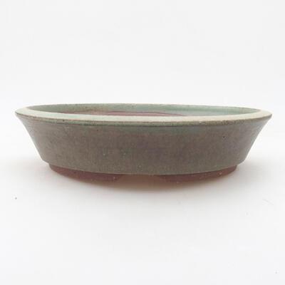 Ceramic bonsai bowl 20 x 20 x 4.5 cm, color green - 1