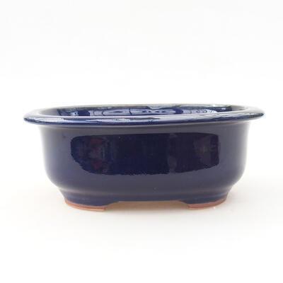 Ceramic bonsai bowl 14 x 11 x 5 cm, color blue - 1