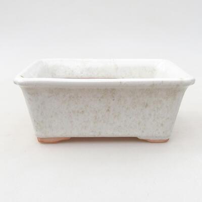 Ceramic bonsai bowl 13 x 10 x 5 cm, white color - 1
