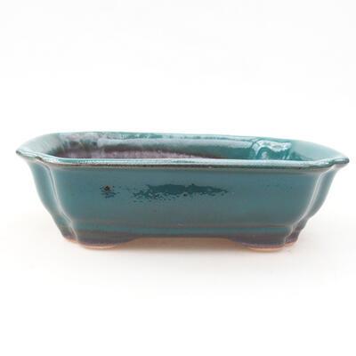 Ceramic bonsai bowl 15 x 12 x 4 cm, color green - 1