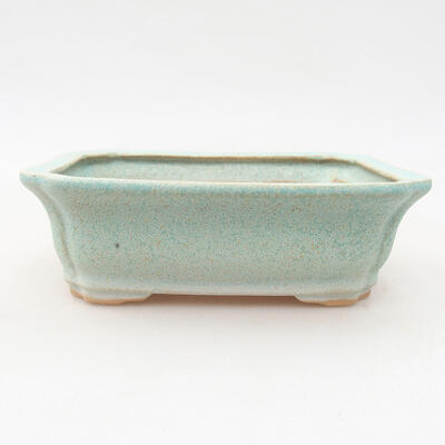Ceramic bonsai bowl 12 x 9.5 x 4 cm, color green - 1