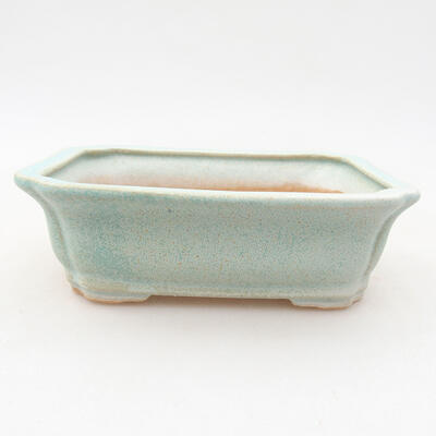 Ceramic bonsai bowl 12 x 9.5 x 4 cm, color green - 1