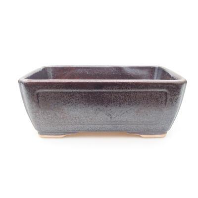 Ceramic bonsai bowl 15 x 11.5 x 5.5 cm, brown color - 1