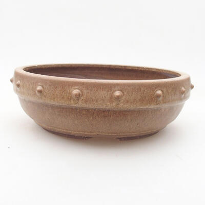 Ceramic bonsai bowl 19 x 19 x 6 cm, color brown - 1