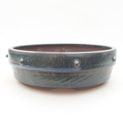 Ceramic bonsai bowl 18 x 18 x 5.5 cm, color blue - 1
