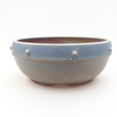 Ceramic bonsai bowl 17 x 17 x 7 cm, color blue - 1