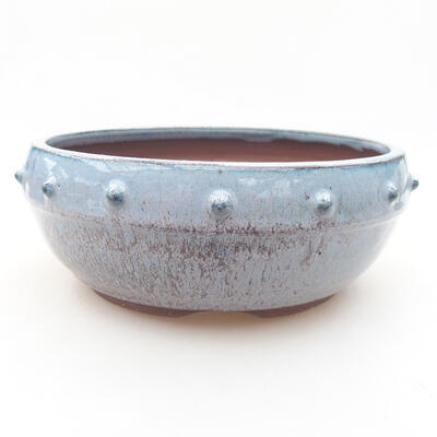 Ceramic bonsai bowl 17.5 x 17.5 x 7 cm, color blue - 1