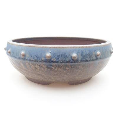 Ceramic bonsai bowl 18.5 x 18.5 x 7 cm, color blue - 1
