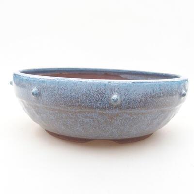 Ceramic bonsai bowl 18.5 x 18.5 x 6 cm, color blue - 1