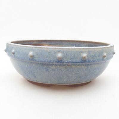 Ceramic bonsai bowl 21 x 21 x 7 cm, color blue - 1
