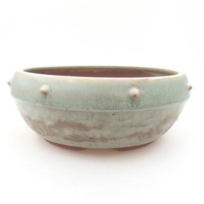 Ceramic bonsai bowl 17 x 17 x 7 cm, color green - 1