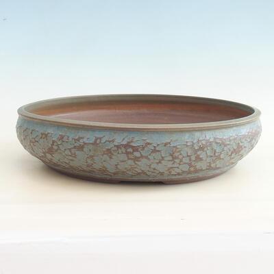 Ceramic bonsai bowl 38 x 38 x 9 cm, color blue - 1