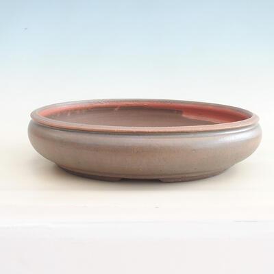 Ceramic bonsai bowl 37 x 37 x 9 cm, color brown-green - 1