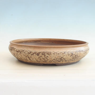 Ceramic bonsai bowl 37 x 37 x 9 cm, beige color - 1
