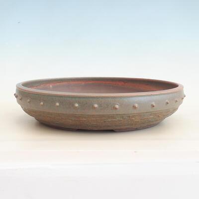 Ceramic bonsai bowl 35 x 35 x 8 cm, color green - 1
