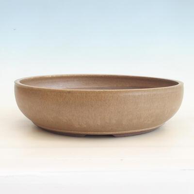 Ceramic bonsai bowl 37 x 37 x 10 cm, color brown - 1