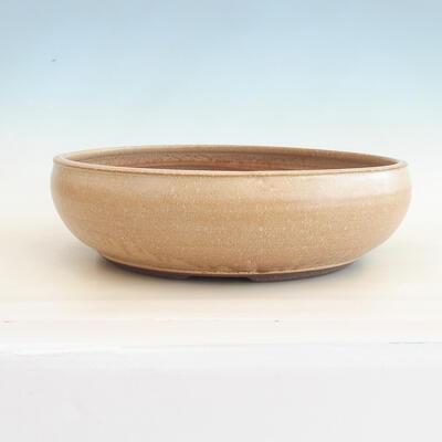 Ceramic bonsai bowl 39 x 39 x 11 cm, color beige - 1