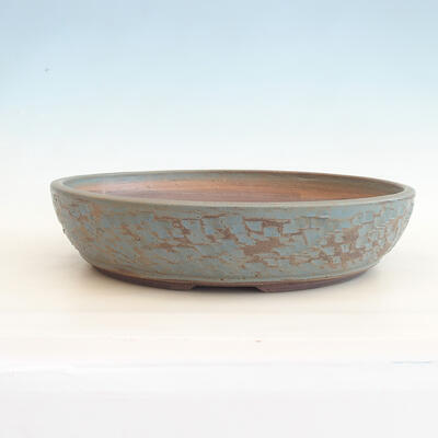 Ceramic bonsai bowl 38 x 38 x 8.5 cm, color green-blue - 1